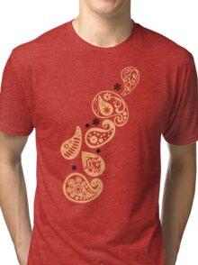 Peach Paisley Tri-blend T-Shirt