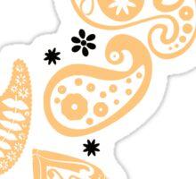 Peach Paisley Sticker