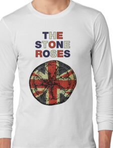 STONE ROSES UNION JACK ARTWORK Long Sleeve T-Shirt