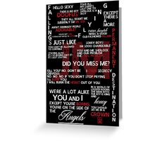 Jim Moriarty Quotes Print Greeting Card