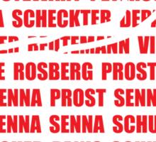 Monaco Winners Sticker