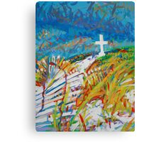 Beach Cross Canvas Print