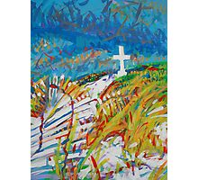 Beach Cross Photographic Print