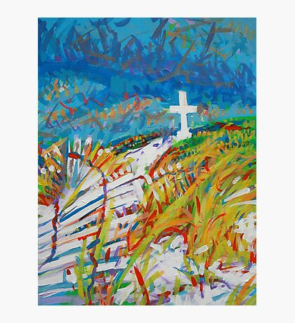 Beach Cross Photographic Print