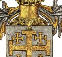 Kingdom of Jerusalem Coat of Arms - Livro do Armeiro-Mor Sticker