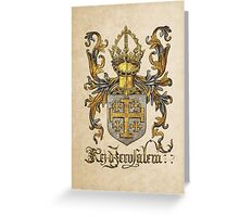 Kingdom of Jerusalem Coat of Arms - Livro do Armeiro-Mor Greeting Card