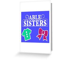 Able Sisters Logo Greeting Card