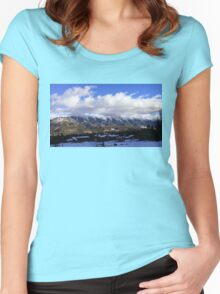 Mountain01 Women's Fitted Scoop T-Shirt