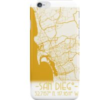 Map of San Diego  iPhone Case/Skin