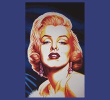 Marilyn Monroe in Blue by JMCSharpieArt