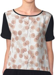 Branches with round leaves. Chiffon Top