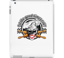 Baker Lady Skull: Let the good times roll! iPad Case/Skin