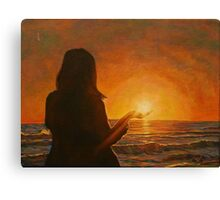 Sun in Hand Canvas Print