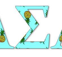 Alpha Sigma Alpha Sorority Pineapples Sticker