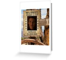Buffy Ethan Rayne Wanted 1 Greeting Card