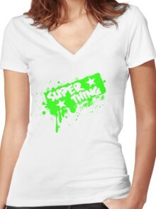 Super thing! Women's Fitted V-Neck T-Shirt