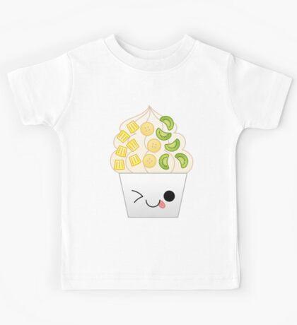 kawaii tropical frozen yogurt Kids Tee