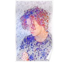 Matthew Healy The 1975 Patterned Saturated Image Poster