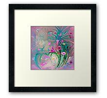 Charm In The Garden Framed Print