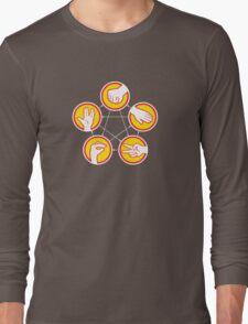Rock Paper Scissors Lizard Spock - Yellow Variant Long Sleeve T-Shirt
