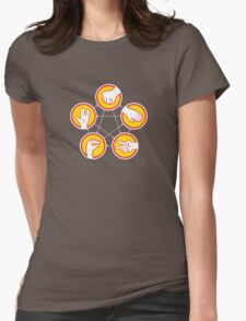 Rock Paper Scissors Lizard Spock - Yellow Variant Womens Fitted T-Shirt