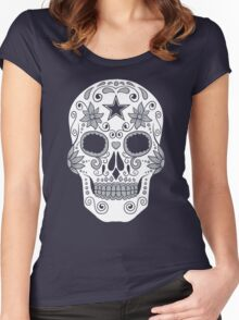 Dallas Sugar Skull Women's Fitted Scoop T-Shirt