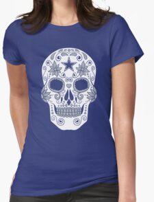 Dallas Sugar Skull Womens Fitted T-Shirt