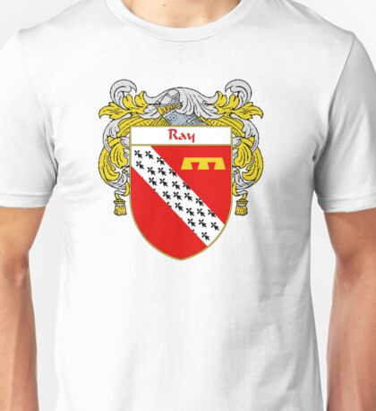 Ray Coat of Arms / Ray Family Crest Unisex T-Shirt