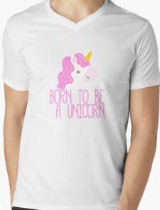 Born To Be A Unicorn Mens V-Neck T-Shirt