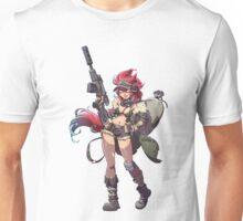 Sniper Girl Illustrated Pin Up Unisex T-Shirt