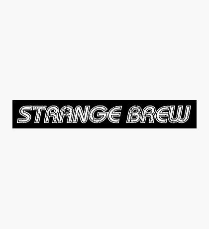 Strange Brew [white] Photographic Print