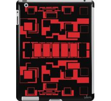 sd Red & Black Geometric Design 7+ 61716 iPad Case/Skin