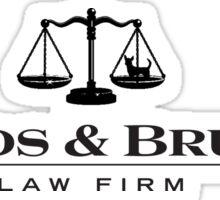 Woods & Bruiser Law Firm Sticker