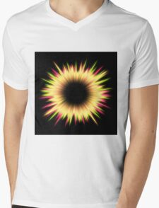 Light burst abstract design Mens V-Neck T-Shirt