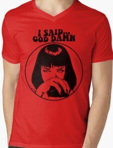 Pulp Fiction - Mia Wallace - God Damn Mens V-Neck T-Shirt