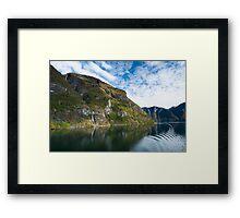 Fabulous Fjord Framed Print