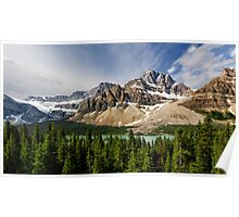 Crowfoot Glacier and Bow Lake Poster