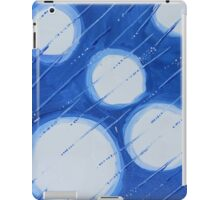 White Orbs In A Blue Storm iPad Case/Skin