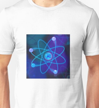 Blue Atomic Structure Unisex T-Shirt