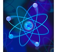 Blue Atomic Structure Photographic Print