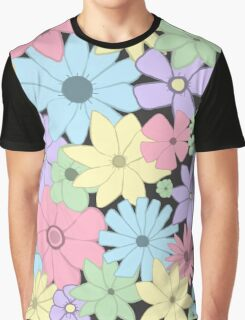 Girly Pastel Flowers Are Fun! Graphic T-Shirt