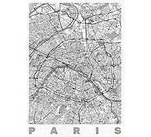 Paris Map Line Photographic Print