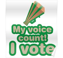 My voice count! I vote Poster