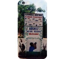 Abuko Nature Reserve Entrance in The Gambia - Print iPhone Case/Skin