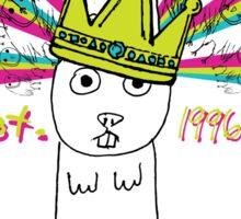 Royal Bunny Sticker