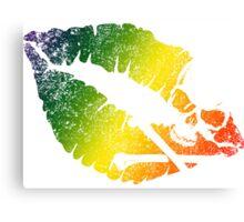 rainbow poison lips Canvas Print
