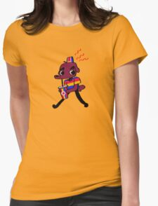 Weiner Dawg! (yellow) Womens Fitted T-Shirt