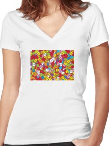 Lots of Pills Women's Fitted V-Neck T-Shirt