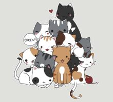 Meowntain of cats by linkitty