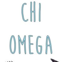 Chi Omega Sorority Arrow Sticker